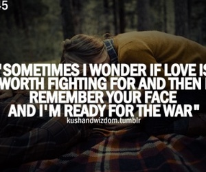 love, quote, and war image