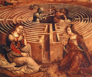 16th century, labyrinth, and maze image