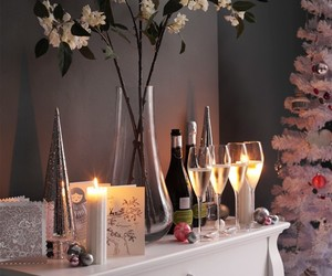christmas, party, and wine image