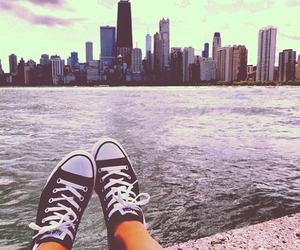 city, lake, and chitown image
