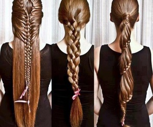 hair, hairstyles, and long hair image
