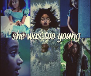 the hunger games, too young, and rue image