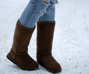 winter, uggs, and boots image