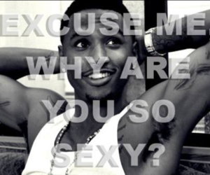black n white, sexy, and trey songz image