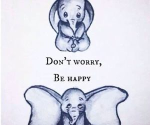 happy, dumbo, and elephant image