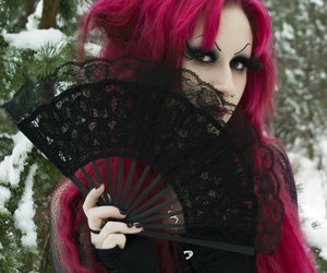 gothic, black, and goth image