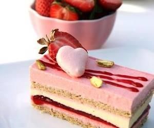 strawberry, dessert, and cake image