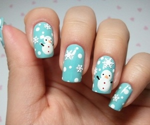 blue, christmas, and snowman image