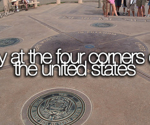 bucket list, four corners, and travel image