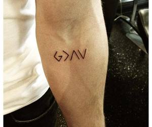nick jonas, tattoo, and god image