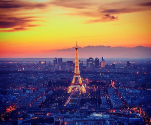 paris, beautiful, and lights image