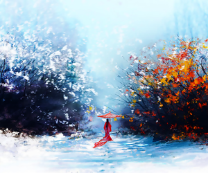 autumn, digital art, and winter image