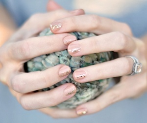 glitter, nails, and preppy image