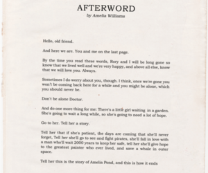 doctor who, afterword, and amy pond image
