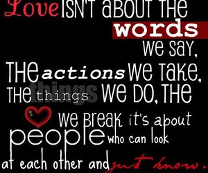black, heart, and love quote image