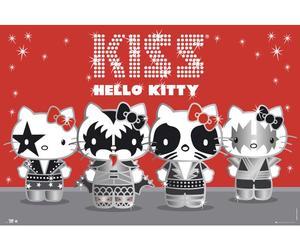 hello kitty and kiss image
