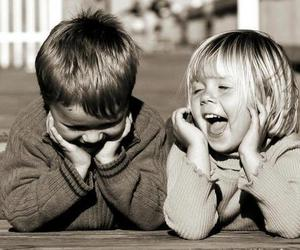 child, boy, and laughter image