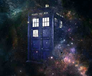 doctor who, tardis, and space image