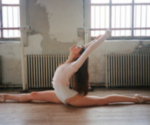 ballerina, splits, and dance image
