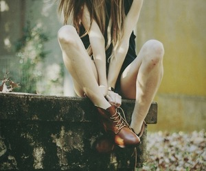 girl, vintage, and autumn image