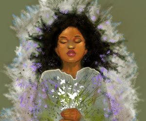 rue, catching fire, and flowers image