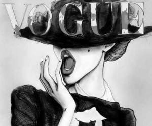 vogue, art, and drawing image