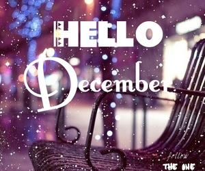december, snow, and hello december image