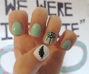 nails, dream catcher, and feather image