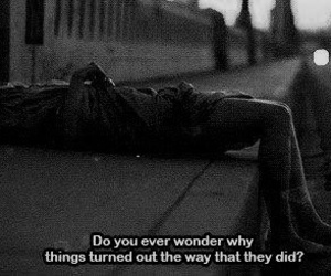 ?, black and white, and depressed image