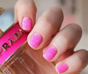 nails, pink, and Prada image