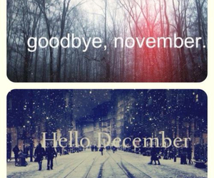 december, november, and hello image