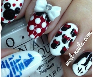 nails, minnie mouse, and nail art image