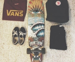 vans, longboard, and skate image