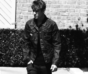 justin bieber and black and white image