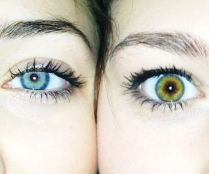 azul, beautiful eyes, and green image