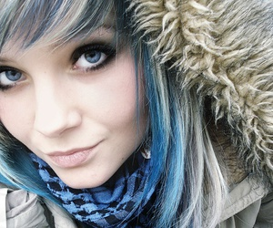 eyes, blue, and cold image