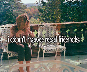 friends, real, and text image