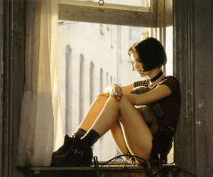 cigarette, window, and girl image