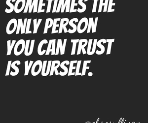 quote, trust, and no one image