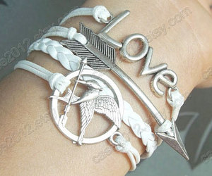catching fire, leather bracelet, and couples bracelet image