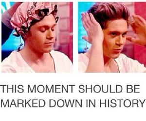 niall horan, one direction, and hair image