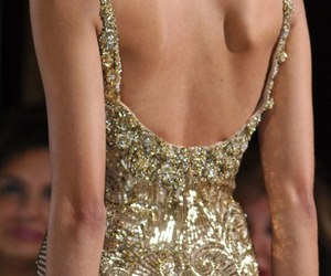 back, gold, and skinny image