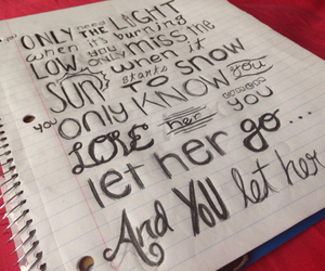 Lyrics, passenger, and let her go image