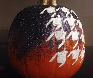 glitter, houndstooth, and pumpkin image