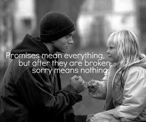 eminem, promise, and quote image