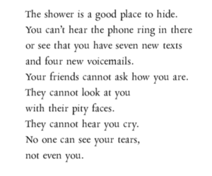 shower, hide, and quote image