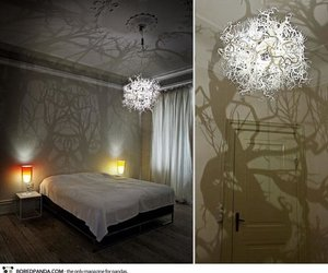 lamp, room, and tree image
