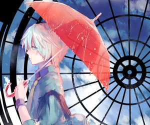 anime, rain, and manga image
