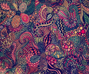colourful, sketch, and stripes image