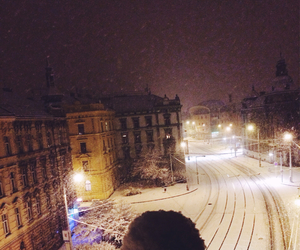 love, city, and snow image